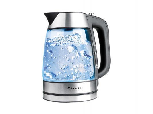 Чайник Maxwell MW-1053 ST 2200Вт 1.7л металл/стекло серебристый