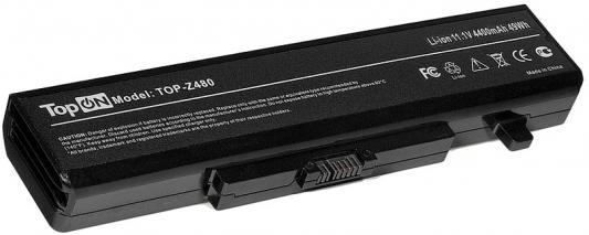 Аккумулятор для ноутбука Lenovo IdeaPad B480, B485, B580, B585, G480, G485, G580, G585, G780, N581, N586, V480, V480C, V480S, V580, V580C, Y480, Y485, Y580, Y580A, Y580M, Y580N, Y580P, Z380, Z480, Z485, Z580, Z585, K49A, M490, M495, ThinkPad E49, ThinkPad Edge E430, E435, E530, E535 4400мАч 11.1V TopON TOP-Z480 jigu 6cells replacement laptop battery for lenovo y485 g480a g580 z380a y480n y580n g485 g580am z380am