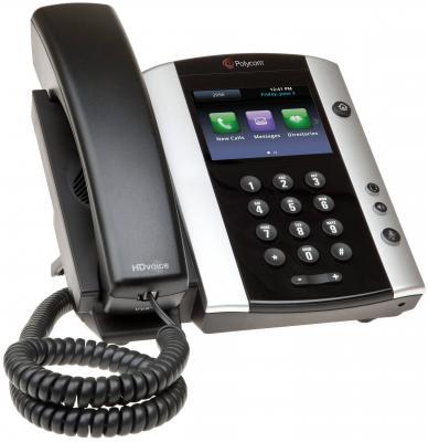 Телефон IP Polycom VVX 500 для конференций черный 2200-44500-114
