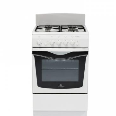 Газовая плита De Luxe 506040.04г щ белый газовая плита de luxe 5040 45г щ 001 газовая духовка белый