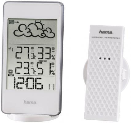 Метеостанция Hama H-123125 EWS-860 белый метеостанция hama th33 a черный