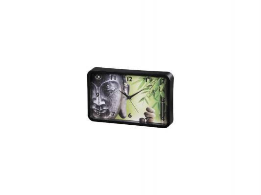 Часы Hama Buddha Bamboo 136206 настенные аналоговые черный