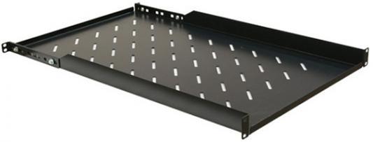 Полка Hyperline TSDH-1U-750-RAL9004 глубиной 750 мм для шкафов с глубиной от 1000 мм черный
