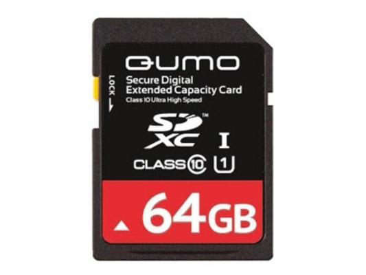 Карта памяти SDXC 64Gb QUMO Class 10 QM64GSDXC10/U1 CL10