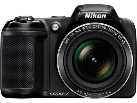 Фотоаппарат Nikon CoolPix L340 20Mp 28x Zoom черный VNA780E1
