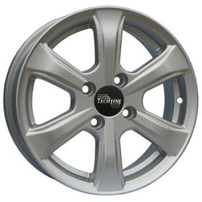 Диск Tech Line 408 5.5x14 4x100 ET43 Silver диск tech line 417 5 5x14 4x100 et43 silver