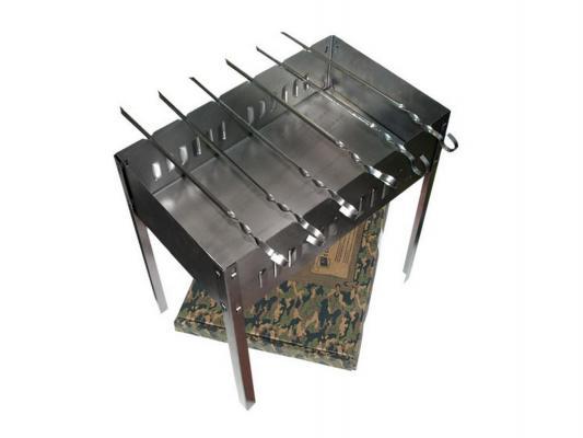 Мангал Boyscout 61237 сборный 50х30х50см + 6 шампуров bs мангал 500 300 500 мм сборный 6 шампуров в картонной коробке 1272762