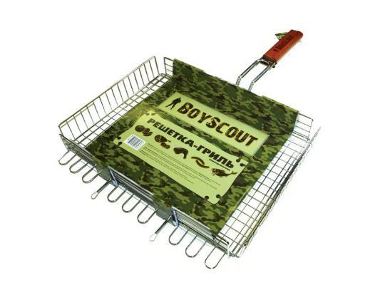 Решетка-гриль Boyscout 61304 универсальная большая 65(+5)x42x32x5.5cм решетка для гамбургеров boyscout 61346