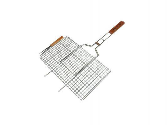 Решетка-гриль Boyscout 61301 для стейков большая с вилкой 70+5x45x27x2cм цена