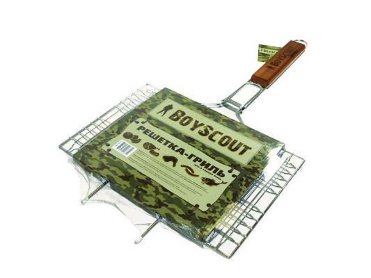 Решетка-гриль Boyscout 61312 для 6 порций блюд большая с антипригарный покрытием 62+5x40x30x2.5cм решетка для гамбургеров boyscout 61346