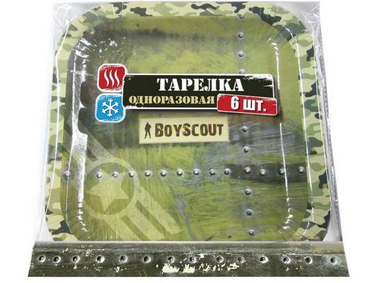все цены на Тарелка Boyscout 61701 бумажная 23х23см 6шт