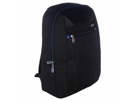 Рюкзак для ноутбука 15.6 Targus TBB571EU нейлон черный/синий сумка для ноутбука targus classic clamshell cn418eu 70 black полистер до 18