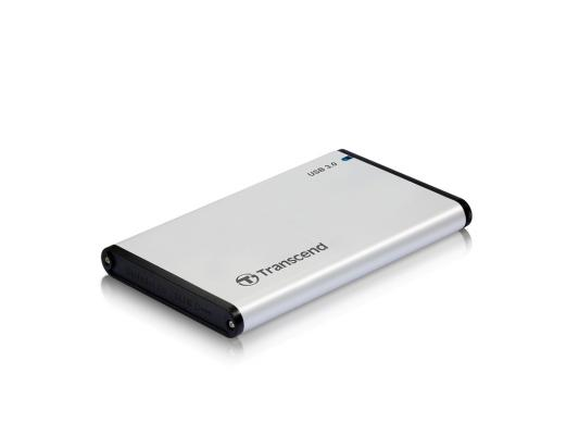 Внешний контейнер для HDD 2.5 SATA Transcend StoreJet 25S3 TS0GSJ25S3 USB3.0 серебристый usb 3 0 transcend ts32gjf700 в белгороде