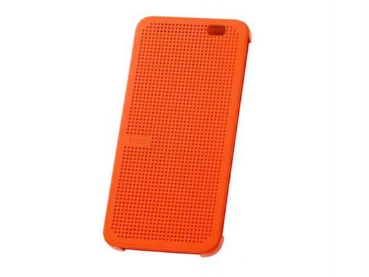 Чехол HTC HC M110 для HTC One Ace Dot View Case оранжевый
