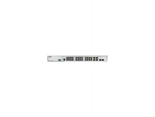Коммутатор D-LINK DGS-3000-26TC/A1A управляемый 26 портов 10/100/1000Mbps 4 комбо-порта 2 слота SFP+ коммутатор d link dgs 3000 26tc управляемый 20 портов 10 100 1000mbps 4 комбо порта 2 слота sfp