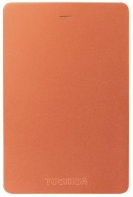 """Внешний жесткий диск 2.5"""" USB3.0 1Tb Toshiba Canvio Alu HDTH310ER3AA красный"""