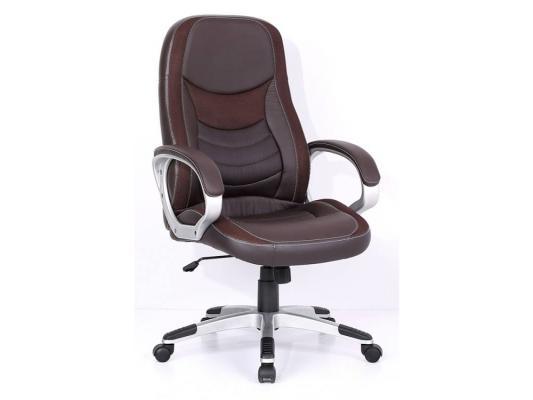 Кресло руководителя Бюрократ T-9910/BROWN искусственная кожа вставки коричневый