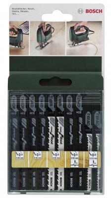 Лобзиковая пилка Bosch SET T-ХВ 10шт 2609256744