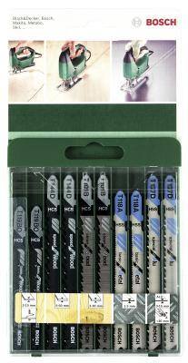 Лобзиковая пилка Bosch SET T-ХВ 10шт 2609256746 пилка для лобзика bosch 2609256746 2609256746