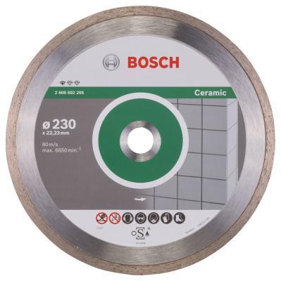 Алмазный диск Bosch 230-22.23 по керамике 2608602205 диск алмазный сплошной по керамике 250х30 25 4 мм bosch профи