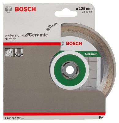 Алмазный диск Bosch 125-22.23 по керамике 2608602202 диск алмазный сплошной по керамике 250х30 25 4 мм bosch профи
