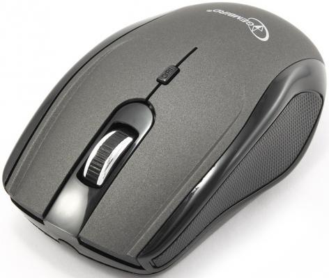 Мышь беспроводная Gembird MUSW-213 чёрный серебристый USB