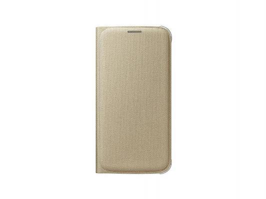 Чехол-книжка Samsung EF-WG920BFEGRU для Samsung Galaxy S6 Flip Wallet золотистый