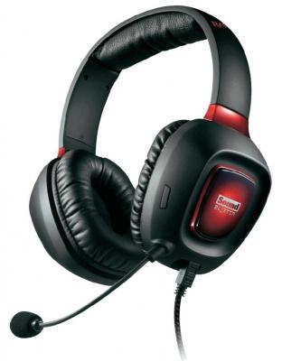 Гарнитура Creative SOUND BLASTER TACTIC3D RAGE WIRELESS V2.0 черный красный 70GH022000003 компьютерная гарнитура creative sound blaster tactic3d rage wireless v2 0 70gh022000003
