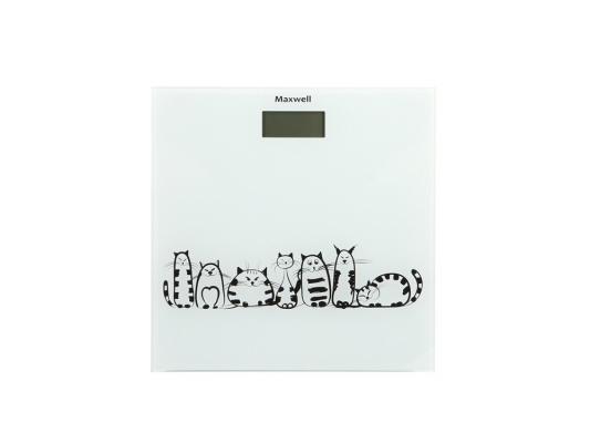 Весы напольные Maxwell MW-2675 W белый рисунок весы maxwell mw 2675