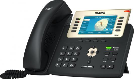 "Телефон IP Yealink SIP-T29G 16 SIP-аккаунтов 2x10/100/1000Mbps 1xUSB2.0 4.3"" LCD PoE BLF"