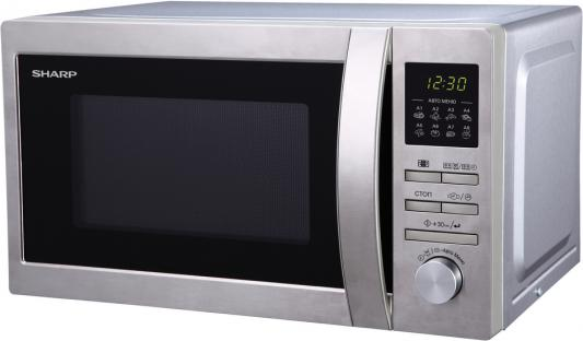 СВЧ Sharp R2495ST 800 Вт серебристый свч gorenje mo21mge 800 вт серебристый