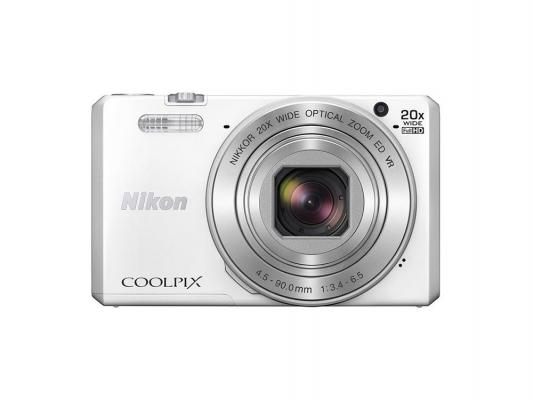 Фотоаппарат Nikon CoolPix S7000 16Mp 20x Zoom белый