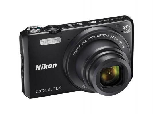 Фотоаппарат Nikon CoolPix S7000 16Mp 20x Zoom черный
