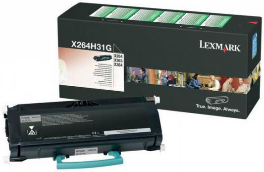 Картридж Lexmark X264H31G для X26x/X36x черный 9000стр картридж lexmark 70c8hke для lexmark cs510 cs410 cs310 черный 4000стр