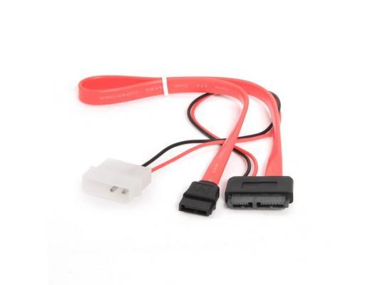 Кабель molex+SATA/miniSATA 6pin+7pin 30см Gembird CC-SATA-C2 кабель esata sata 50см 7pin 7pin