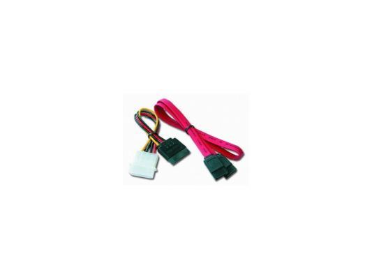 Комплект кабелей интерфейсный 7pin/7pin 48см + кабель питания 4pin/15pin 15см Gembird CC-SATA
