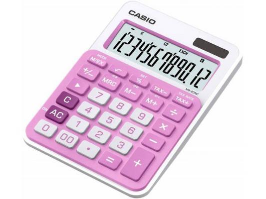 Калькулятор Casio MS-20NC-PK-S-EC 12-разрядный розовый калькулятор печатающий casio fr 2650rc w ec 12 разрядный серый белый