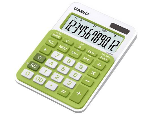 Калькулятор Casio MS-20NC-GN-S-EC 12-разрядный зеленый