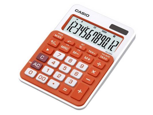 Калькулятор Casio MS-20NC-RG-S-EC 12-разрядный оранжевый