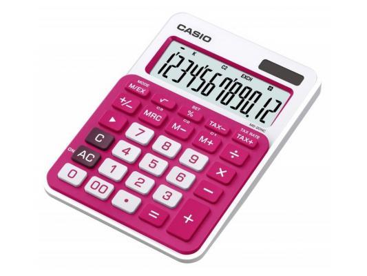 Калькулятор Casio MS-20NC-RD-S-EC 12-разрядный красный калькулятор печатающий casio fr 2650rc w ec 12 разрядный серый белый