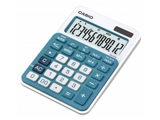 Калькулятор Casio MS-20NC-BU-S-EC 12-разрядный голубой калькулятор casio ms 20nc bu s ec 12 разрядный голубой