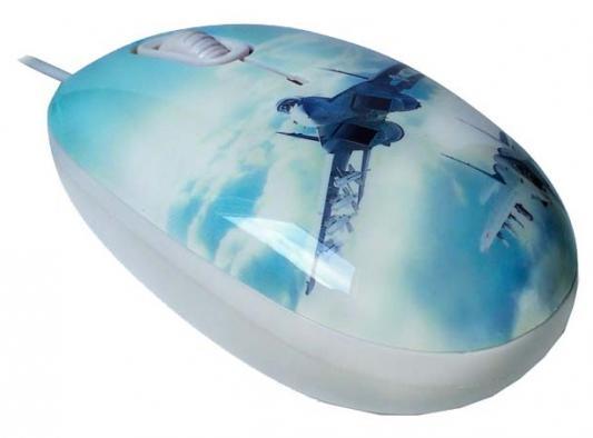 Мышь проводная CBR Aero Battle рисунок голубой USB + коврик мышь проводная cbr mf 500 lazaro red