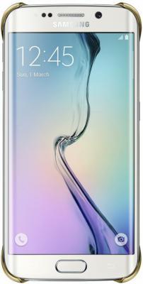 Бампер Samsung EF-QG925BFEGRU для Samsung Galaxy S6 Edge Clear Cover золотистый- прозрачный