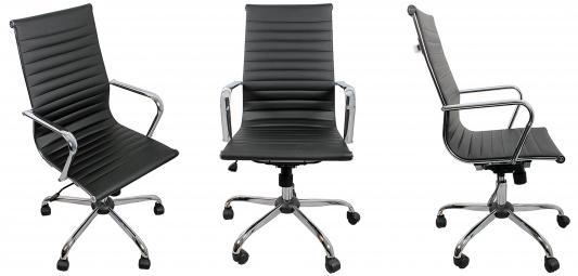 Кресло руководителя College H-966L-1 кожа черный