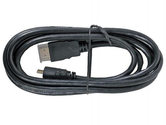 Кабель HDMI 1.8м 3Cott Ver.1.4 3D + Ethernet 30AWG позолоченные коннекторы 3C-HDMI-AD-005GP-1.8M