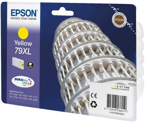 Картридж Epson C13T79044010 для WF-5110DW WF-5620DWF желтый картридж epson t009402 для epson st photo 900 1270 1290 color 2 pack
