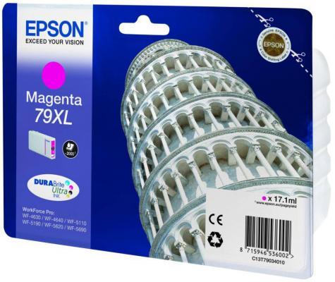 Картридж Epson C13T79034010 для WF-5110DW WF-5620DWF пурпурный 2000стр original cc03main mainboard main board for epson l455 l550 l551 l555 l558 wf 2520 wf 2530 printer formatter