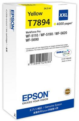 Картридж Epson C13T789440 для WF-5110DW WF-5620DWF желтый 4000стр sony wf sp700n желтый