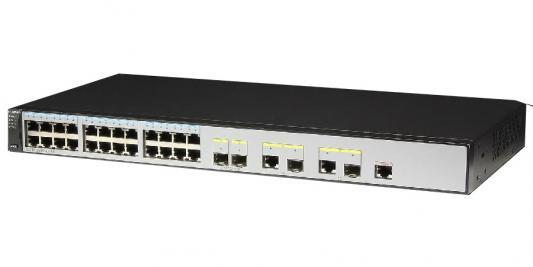 Коммутатор Huawei S2750-28TP-EI-AC 24 порта 10/100/1000Mbps 2хSFP коммутатор huawei s2750 28tp pwr ei ac