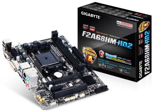 Мат. плата для ПК GigaByte GA-F2A68HM-HD2 Socket FM2+ AMD A68H 2xDDR3 1xPCI-E 16x 1xPCI 1xPCI-E 1x 6xSATAIII mATX Retail. Производитель: GigaByte, артикул: 8708771